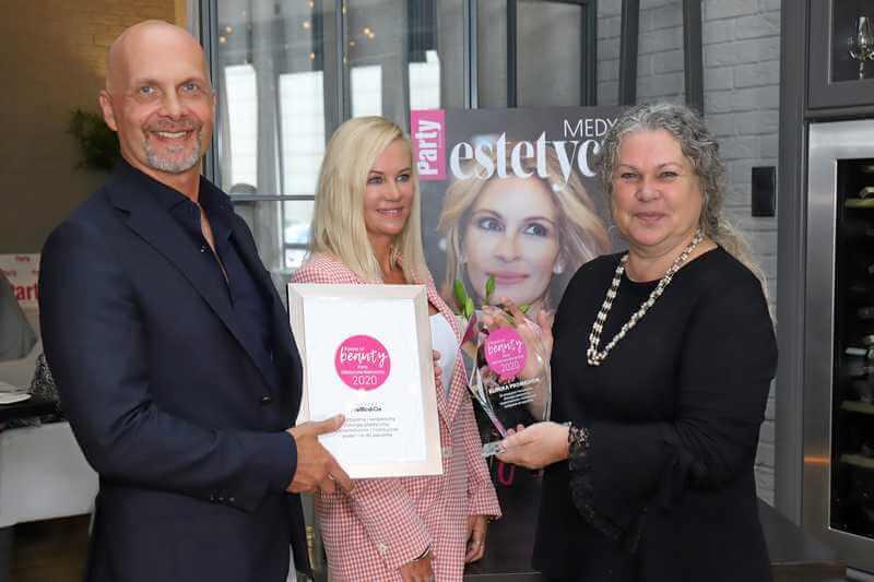 Nagroda Power of Beauty Party Medycyna Estetyczna 2020 dla Kliniki Promedion